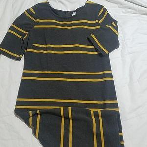 Gray and Yellow Sheath Dress